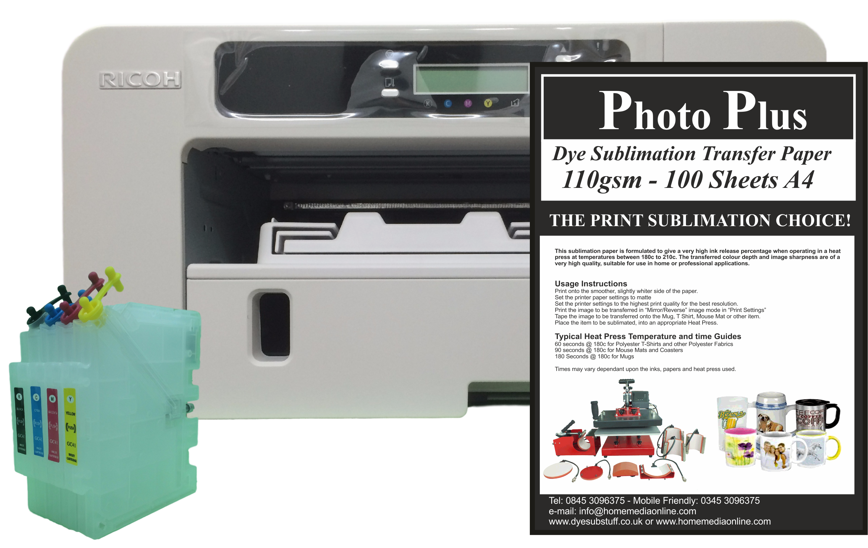 Ricoh Aficio Sg2100n Dye Sublimation Printer Bundle 3